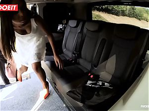 LETSDOEIT - kinky teenager fucks and deep-throats taxi Driver