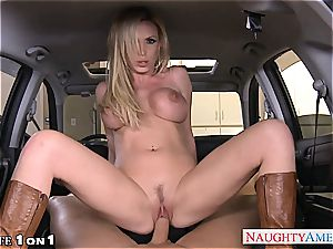chesty housewife Nikki Benz take meatpipe in pov