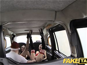 fake cab Xmas theme special santa anal pulverizes two elves